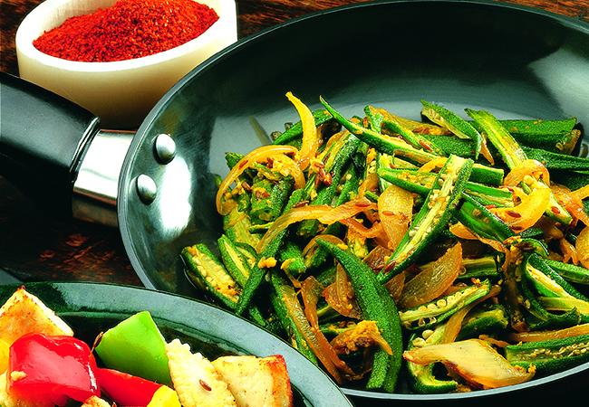Bhindi Onion Stir-fry , Kerala-style Ularthu