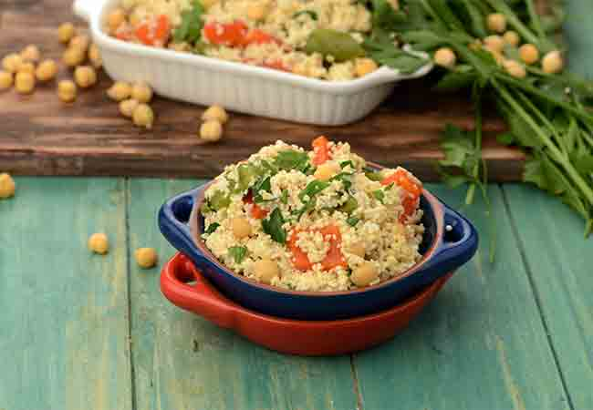 Broken Wheat Salad with Chick Peas and Roasted Pepper ( Soups and Salads )