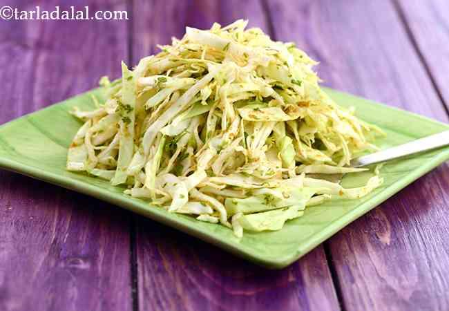 कैबेज सलाद की रेसिपी   तुरंत बनने वाला पत्तागोभी का सलाद   - Cabbage Salad