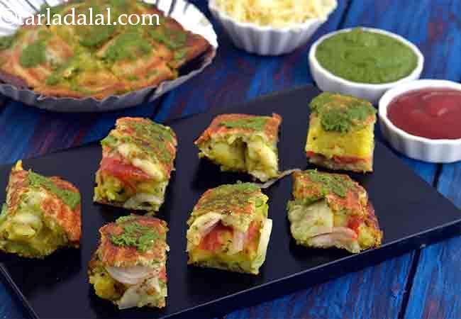Cheese Masala Toast Sandwich, Mumbai Roadside Recipe