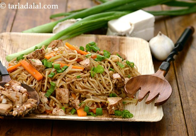 Chinese Barbequed Tofu with Sesame Noodles