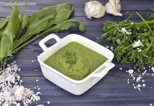 Coconut Coriander Green Chutney for Dosa, Dosa Green Chutney
