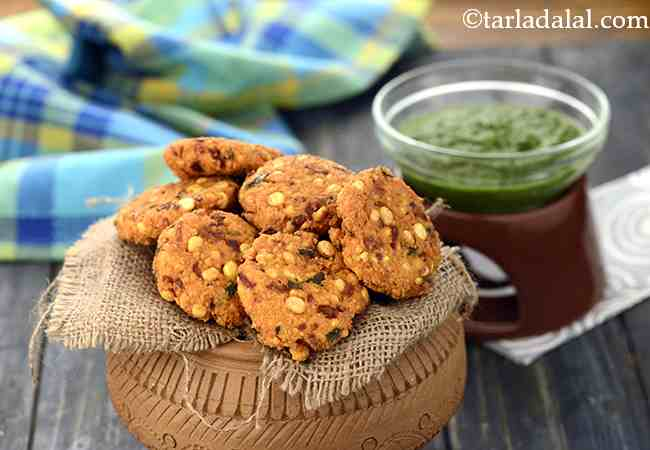 दाल वड़ा - Dal Vada, South Indian Chana Dal Vada, Masala Vada