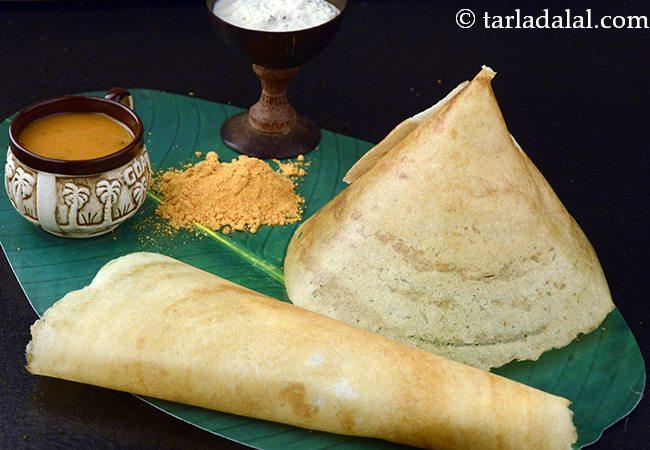 डोसा रेसिपी | सादा डोसा | डोसा बैटर के साथ | दक्षिण भारतीय डोसा