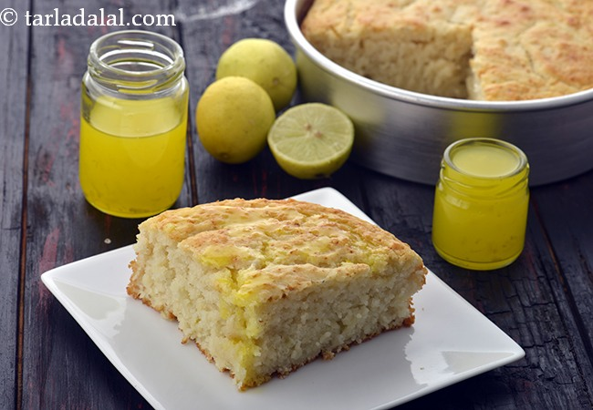 Eggless Lemon Cake, Indian Style Lemon Cake