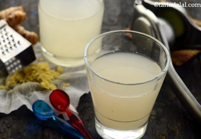 अदरक नींबू पेय रेसिपी | अदरक नींबू पानी वजन घटाने, डेटॉक्स और एनोरेक्सिया के लिए - Ginger Lemon Drink, for Weight Loss, Detox, Anorexia