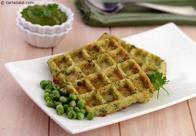 Green Peas Waffles