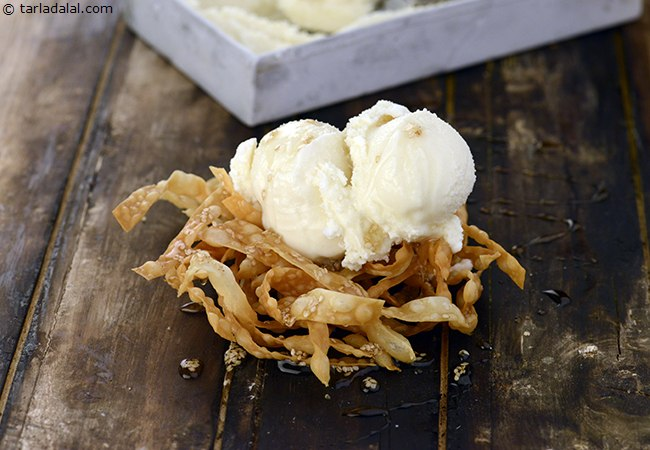 Honey Noodles with Vanilla Ice Cream