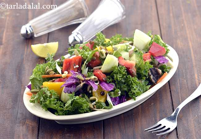 Kale, Masoor Veg Antioxidant Healthy Office Salad