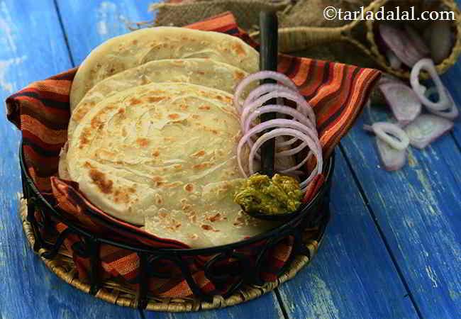 Lachha Paratha, Punjabi Soft Flaky Lachha Paratha