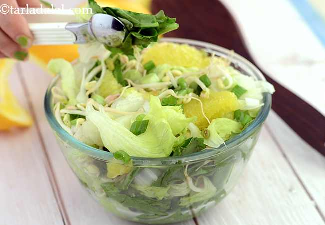 Lettuce, Orange and Spinach Salad