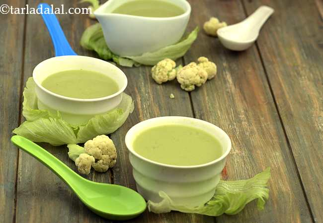 लैट्यूस एण्ड कॉलीफ्लॉवर सूप - Lettuce and Cauliflower Soup
