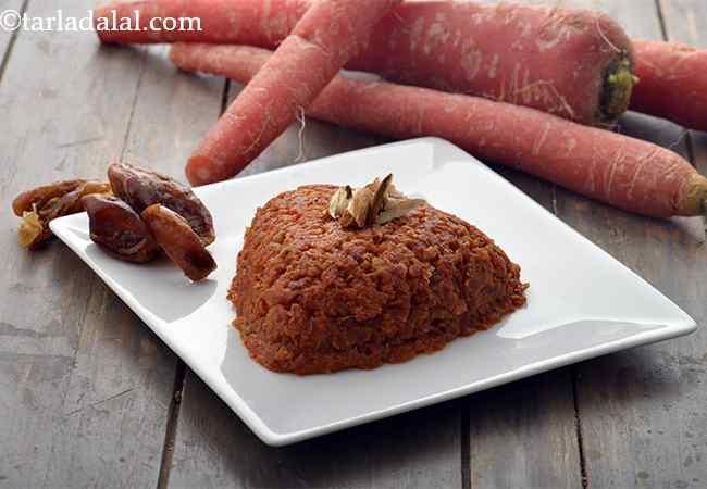 Low Fat Carrot Halwa, Healthy Gajar Halwa