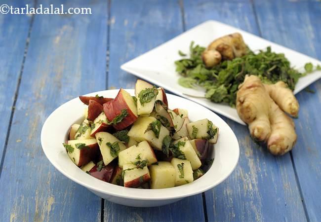 मिन्टी एप्पल सलाद - Minty Apple Salad
