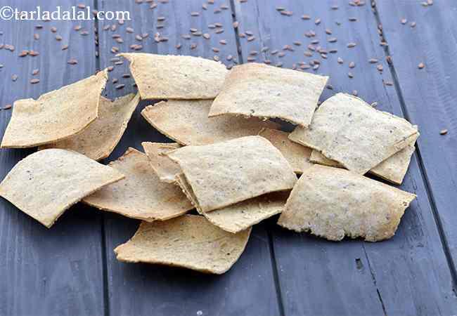 हेल्थी मल्टीग्रेन क्रैकर्स रेसिपी | मल्टीग्रेन हेल्दी क्रैकर्स - Multigrain Healthy Cracker, Lactose Free