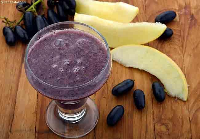 Musk Melon Black Grape Drink