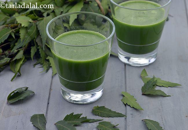 नीम का जूस रेसिपी   नीम का रस   वजन घटाने नीम का रस   - Neem Juice