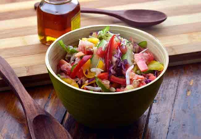 पौष्टिक वेजीटेबल सलाद - Nutritious Vegetable Salad, Low Salt and High Fiber Veg Salad