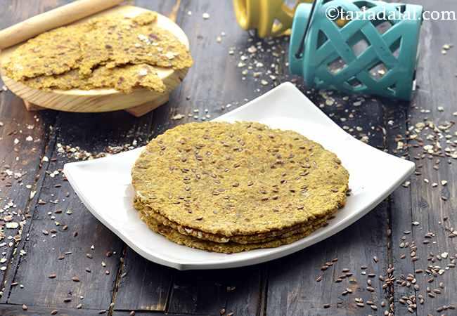 Oats Flax Seeds Roti, Low Salt Recipe