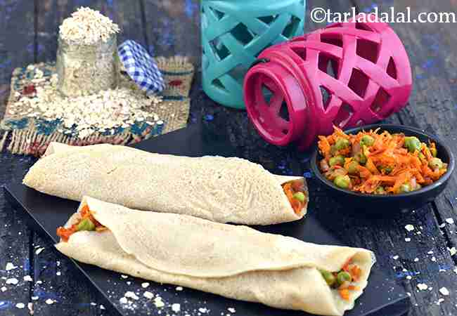 ओटस् मटर डोसा - Oats Mutter Dosa (Fibre Rich Recipe)