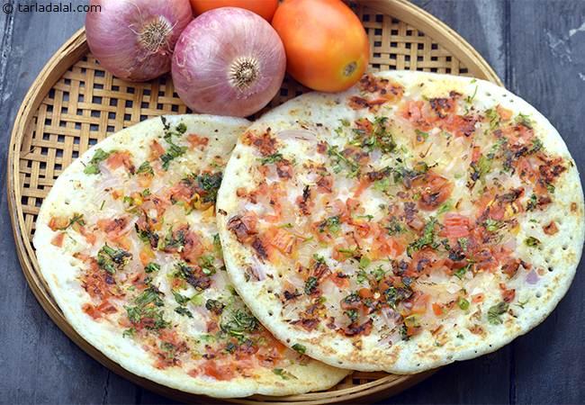 Onion Tomato Uttapam