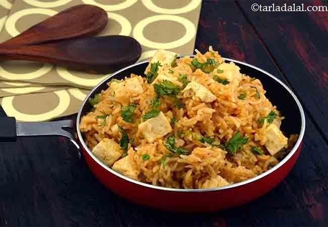पनीर पुलाव रेसिपी | पनीर राईस - Paneer Pulao