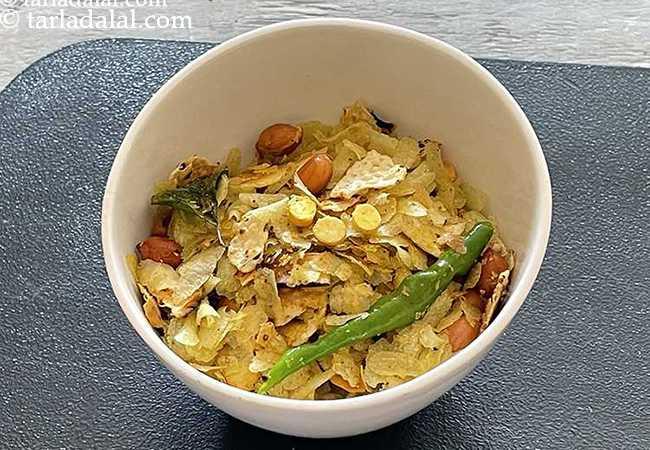 पापड़ पोहा रेसिपी | आसान दिवाली का नाश्ता | झटपट गुजराती पापड़ पोहा चिवड़ा | रोस्टेड भुना हुआ पापड़ पोहा चिवड़ा(मिनटों में घर पर बनाएं)