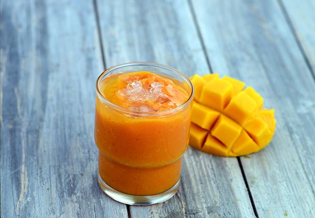 Papaya Mango Smoothie ( Healthy Breakfast)