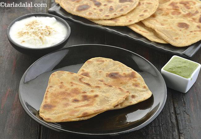 पराठा रेसिपी | सादा पराठा | - Parathas, Plain Paratha