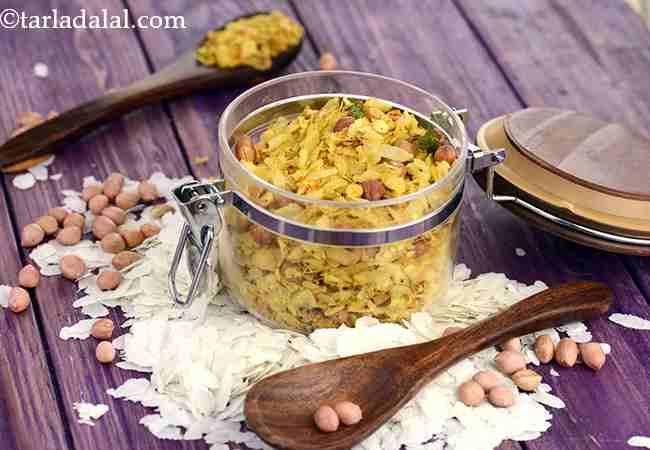 पोहा चिवड़ा रेसिपी | महाराष्ट्रीयन पोहा चिवड़ा | पतला पोहा चिवड़ा - Poha Chivda