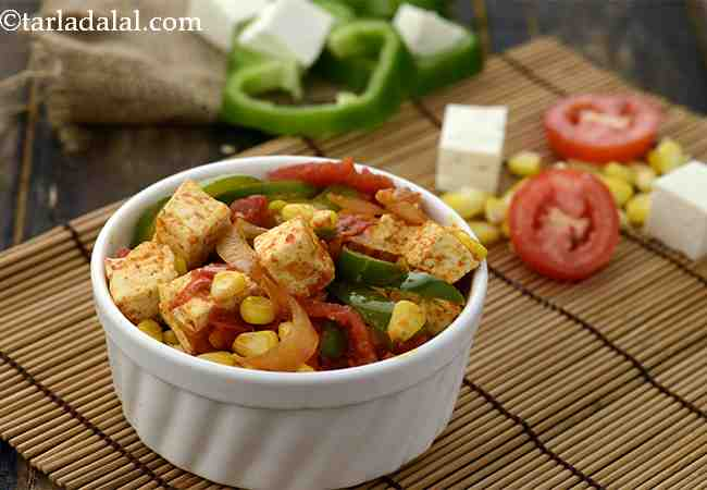 Quick Corn and Paneer Subzi