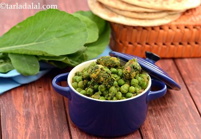 रॅडिश मूठीया एण्ड ग्रीन पीस् सब्ज़ी