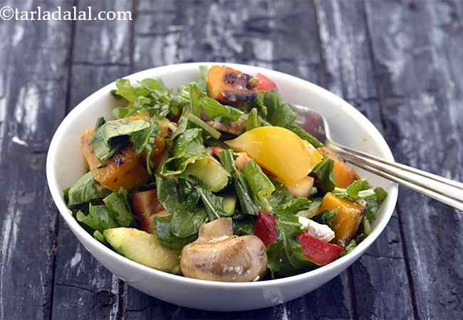 Rocket Leaves, Zucchini Red Pumpkin Healthy Lunch Salad
