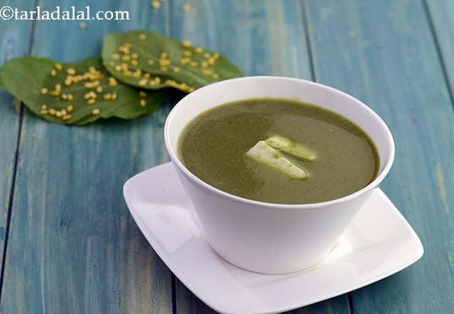 Spinach, Paneer and Dal Soup