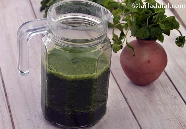 पालक और पुदीना जूस | | पालक का जूस | पुदीना का जूस | पौष्टिक हरा जूस | वजन कम करने के लिए पालक का जूस | - Spinach and Mint Juice ( Healthy Juice)