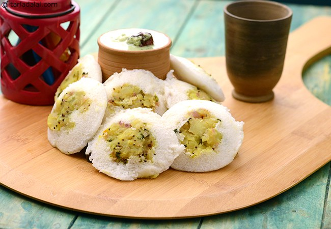 Stuffed Potato Idli