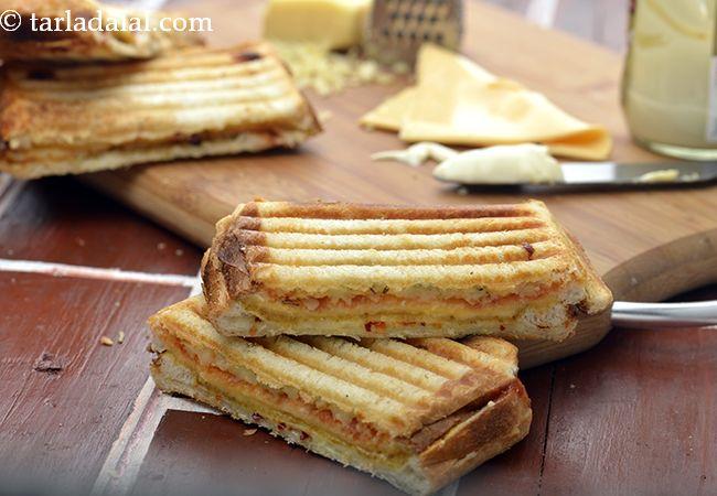 ३ लेयर चीज़ ग्रिल्ड सैंडविच नुस्खा | चीज़ ग्रिल्ड सैंडविच | ट्रिपल लेयर चीज़ ग्रिल्ड सैंडविच