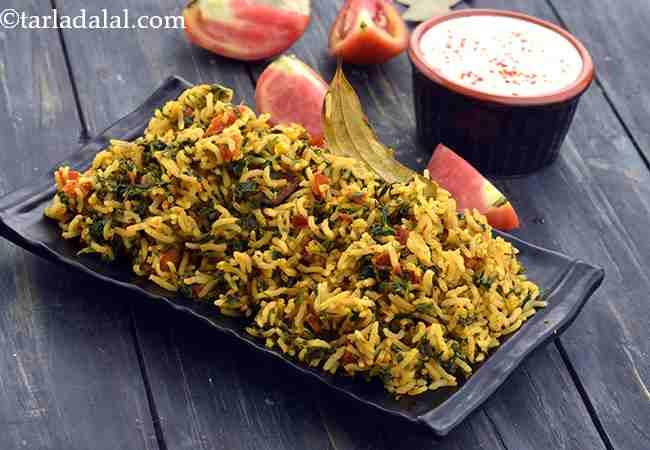 टमाटर और मेथी के चावल - Tomato Methi Rice ( Iron Rich Recipe )