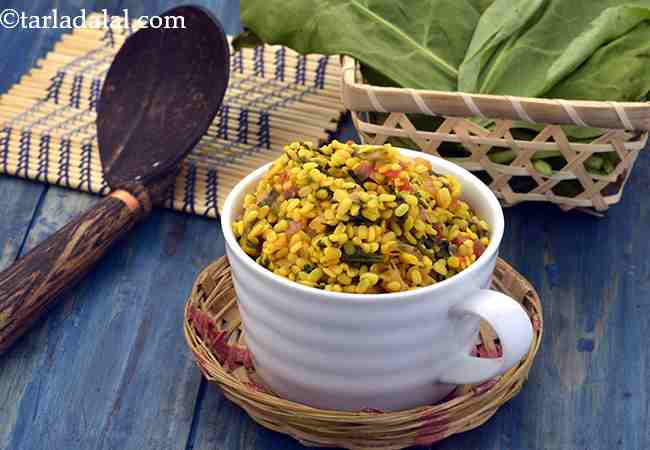 Urad Dal with Spinach, Healthy Urad Dal with Spinach