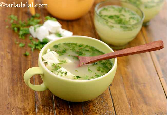 लेमन एण्ड कोरीयेन्डर सूप - Lemon and Coriander Soup ( Vitamin C Rich)