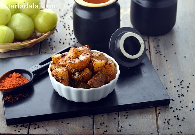 amla pickle recipe   amla achar   Indian gooseberry pickle