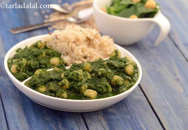 Chana Palak, Healthy Heart Chole Palak Recipe