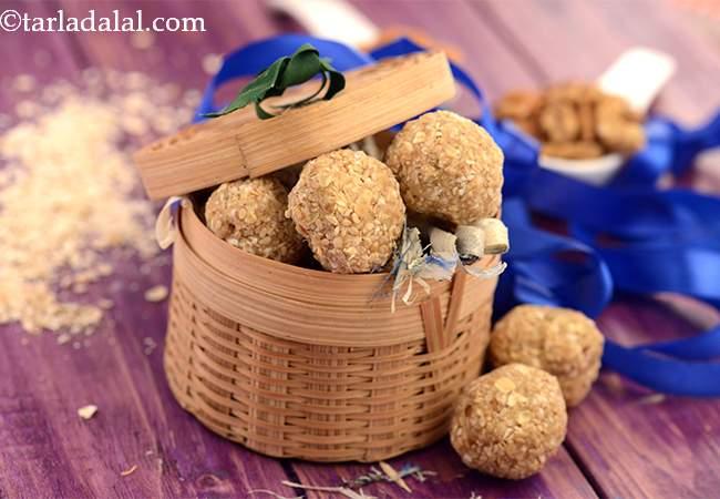 oats and mixed nuts ladoo recipe | healthy oats laddu | oats dry fruits ladoo