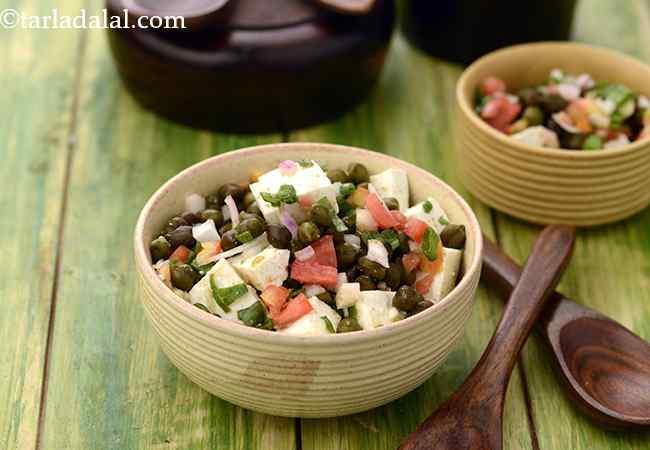 पनीर और हरे चने का सलाद | हेल्दी पनीर चना सलाद | प्रोटीन से भरपूर चना सलाद | कैल्शियम से भरपूर पनीर सलाद रेसिपी | Paneer Aur Hare Chane ka Salad, Healthy Salads Recipe