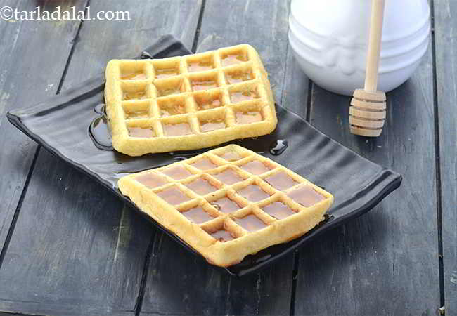 Waffles with Butter and Honey, Waffles Made with Yeast