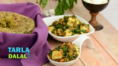 Paneer recipes 250 punjabi paneer recipes tarladalal methi palak paneer subzi video by tarla dalal forumfinder Gallery