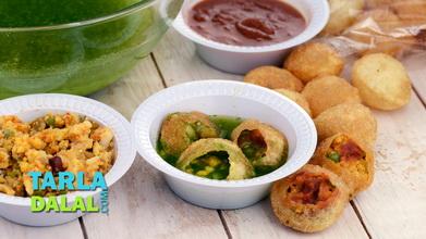Moong Dal Ki Chaat (100 Calorie Snacks) recipe | by Tarla ...