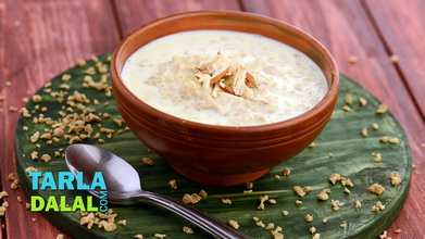 Soya Kheer (Pregnancy Recipe) Video of Tarla Dalal