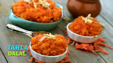 Gajar Halwa (Quick Carrot Halwa) Video by Tarla Dalal